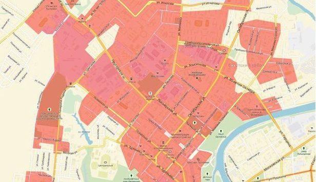 Где нельзя будет проводить митинги вслучае принятия закона Потомского. Карта